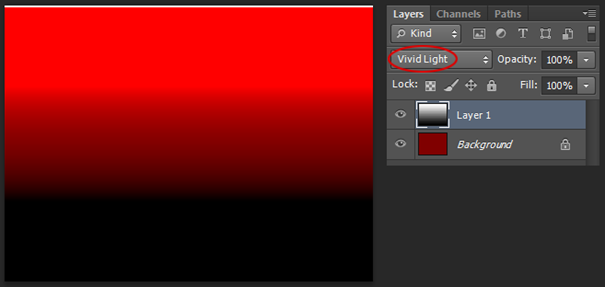 Photoshop - Interakce Vivid Light, obr. 3