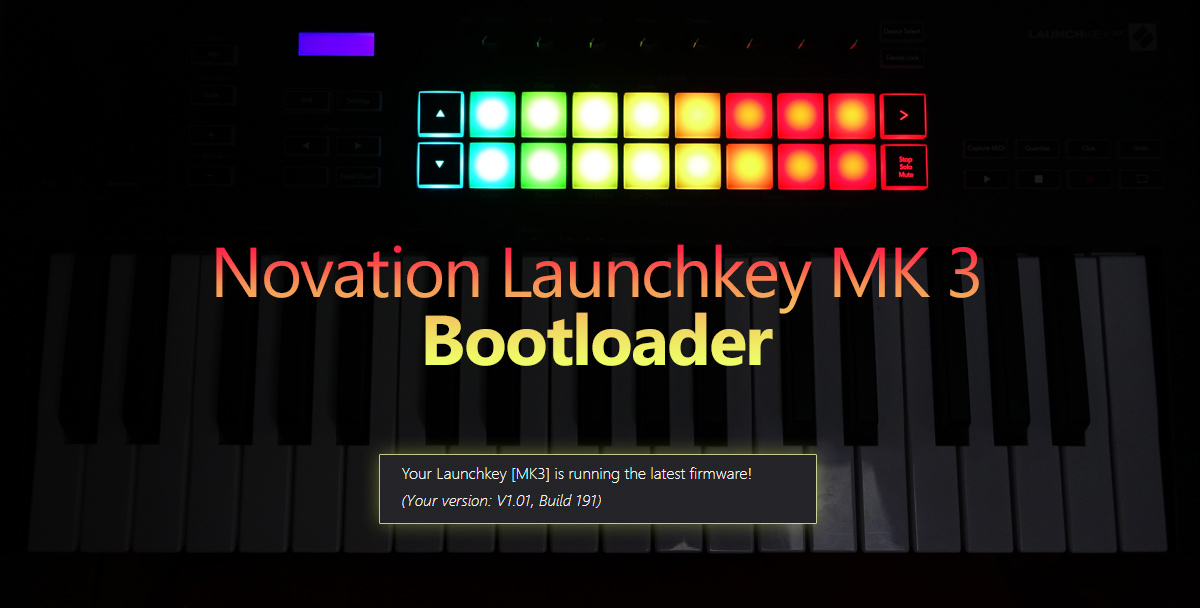 Novation LAUNCHKEY MK3 - firmware aktualizace 1.91 a bootloader, obr. 1
